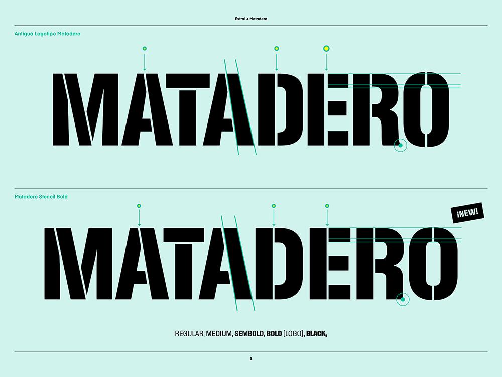 Matadero Stencil, la deliciosa tipográfia de Extra! para Matadero Madrid