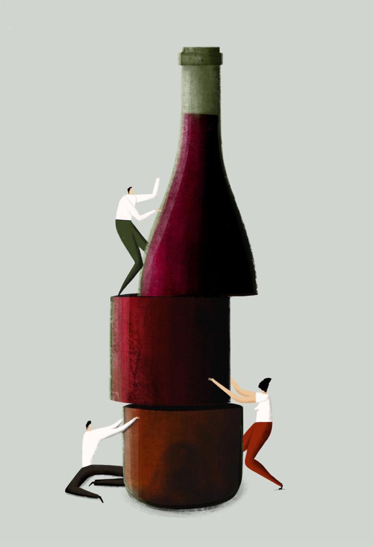 Inspiraciones y vino, taller de ilustración a cargo de Pepe Serra en el corazón del Priorat. © Pepe Serra