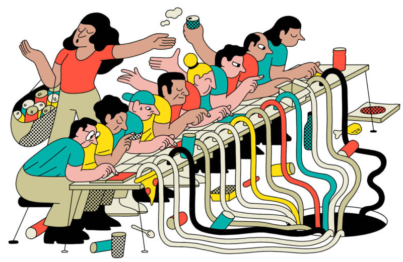 La ilustración de Simon Landrein, la excepcionalidad hecha rutina