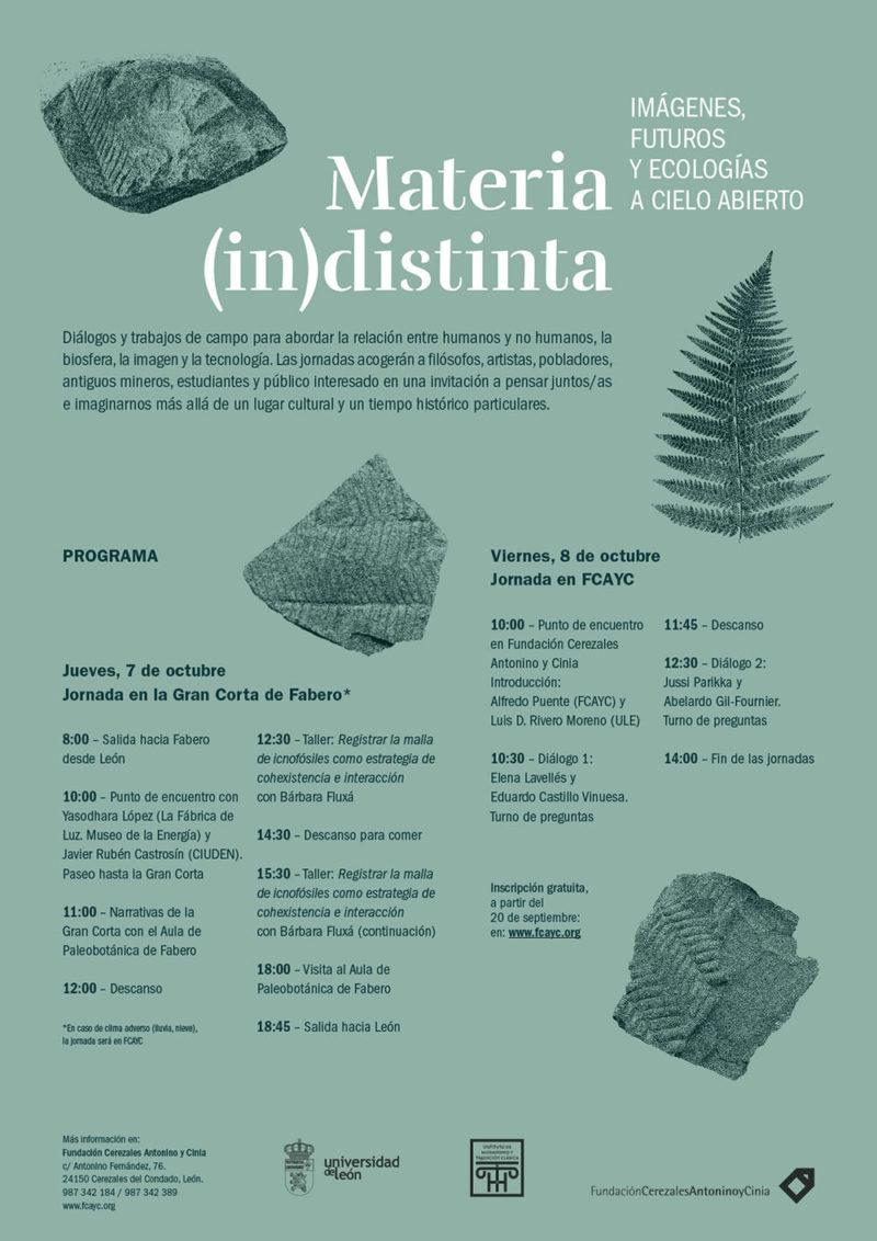 Materia (in)distinta: jornadas de la Fundación Cerezales Antonino y Cinia en León