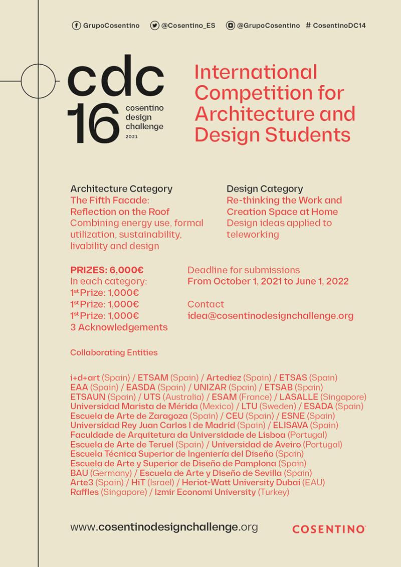 Cosentino Design Challenge 16. El concurso para estudiantes de Arquitectura y Diseño de Cosentino